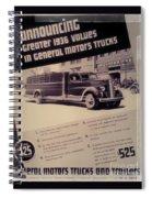 General Motor Truck Trailer Spiral Notebook