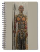 General Okoye Of The Wakandian Elite Forces   Spiral Notebook