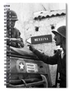 General Patton In Sicily Spiral Notebook