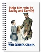 General Pershing - Buy War Saving Stamps Spiral Notebook
