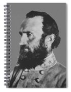 General Stonewall Jackson Profile Spiral Notebook
