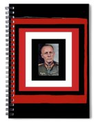 Generalfeldmarschall  Erwin Rommel  In Color Circa 1942 Frames Added 2016 Spiral Notebook