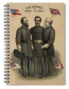 Generals Jackson Beauregard And Lee Spiral Notebook