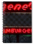 Gene's Hamburgers  Spiral Notebook