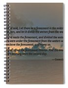 Genesis 1 6-8 Let There Be A Firmament In The Midst Of The Waters Spiral Notebook