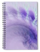 Gentle Wave Of Purple Spiral Notebook