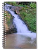 Gently Flowing Spiral Notebook