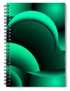 Geometric Abstract In Green Spiral Notebook