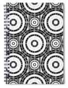 Geometric Black And White Spiral Notebook