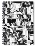 Geometric Confusion - Black And White Spiral Notebook