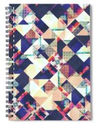 Geometric Grunge Pattern Spiral Notebook