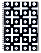 Geometric In Black And White Spiral Notebook