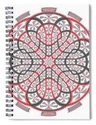 Geometric Mandala Spiral Notebook