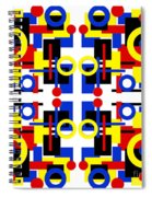 Geometric Shapes Abstract Square 2 Spiral Notebook