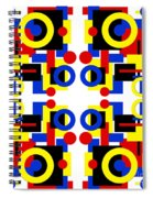 Geometric Shapes Abstract Square 3 Spiral Notebook
