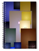 Geometric Squares Spiral Notebook