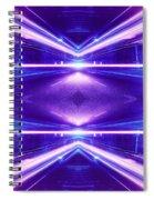 Geometric Street Night Light Pink Purple Neon Edition  Spiral Notebook