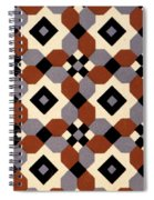 Geometric Textile Design Spiral Notebook