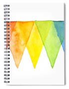 Geometric Watercolor Pattern Rainbow Triangles Spiral Notebook