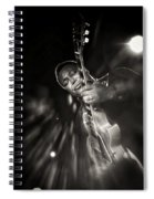 George Benson Black And White Spiral Notebook