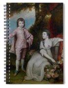 George Capel, Viscount Malden, And Lady Elizabeth Capel Spiral Notebook