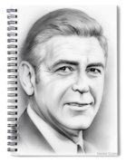 George Clooney Spiral Notebook