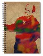 George Constanza Of Seinfeld Watercolor Portrait Spiral Notebook