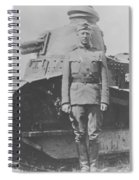 George S. Patton During World War One  Spiral Notebook