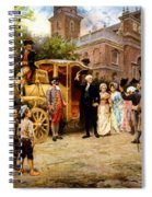 George Washington Arriving At Christ Church Spiral Notebook