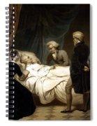 George Washington On His Deathbed Spiral Notebook
