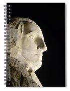 George Washington Profile At Night Spiral Notebook