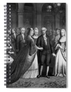 George Washington's Reception At White House - 1776  Spiral Notebook