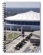 Georgia Dome In Atlanta Spiral Notebook