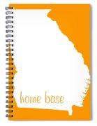 Georgia Is Home Base White Spiral Notebook