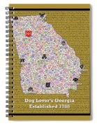 Georgia Loves Dogs Spiral Notebook