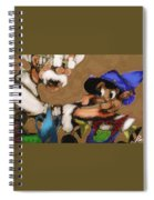 Geppetto And Pinochio Spiral Notebook
