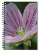 Geranium Detail 3 Spiral Notebook