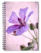 Geranium Maculatum Spiral Notebook