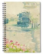 Geraniums By The Lake Spiral Notebook
