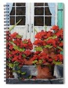 Geraniums On The Porch Spiral Notebook