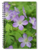 Geraniums Spring Wildflowers Spiral Notebook