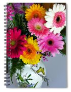 Gerbera Daisy Bouquet Spiral Notebook