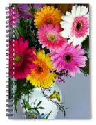 Gerbera Daisy Bouquet Spiral Notebook