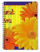 Gerbera Daisy Thank You Card Spiral Notebook