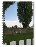 German Bunker At Tyne Cot Cemetery Spiral Notebook
