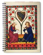 German Minnesinger 14th C - To License For Professional Use Visit Granger.com Spiral Notebook
