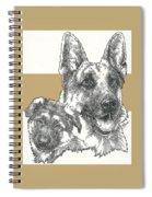 German Shepherd And Pup Spiral Notebook