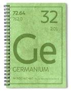 Germanium Element Symbol Periodic Table Series 032 Spiral Notebook