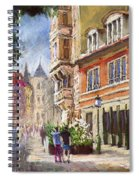 Germany Baden-baden Lange Str Spiral Notebook