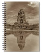 Germany - Monument To The Battle Of The Nations In Leipzig, Saxony, In Sepia Spiral Notebook